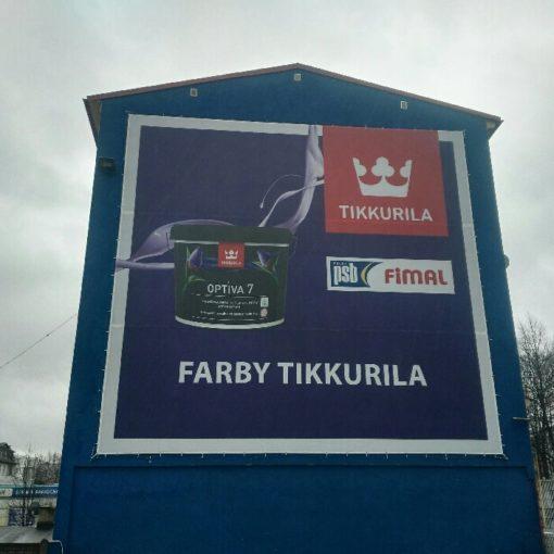 reklama na budynku Słupsk