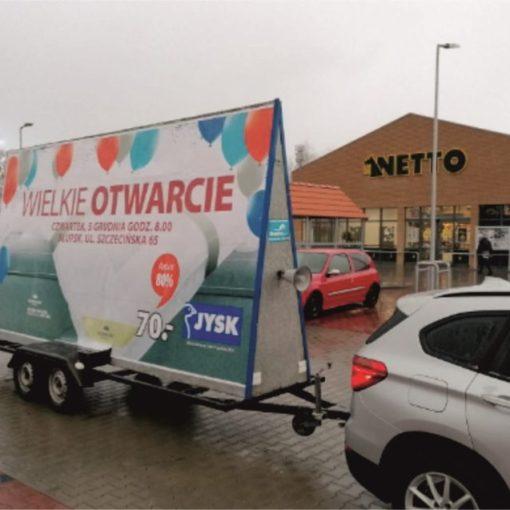 reklamy mobilne i przyczepy reklamowe w Słupsku